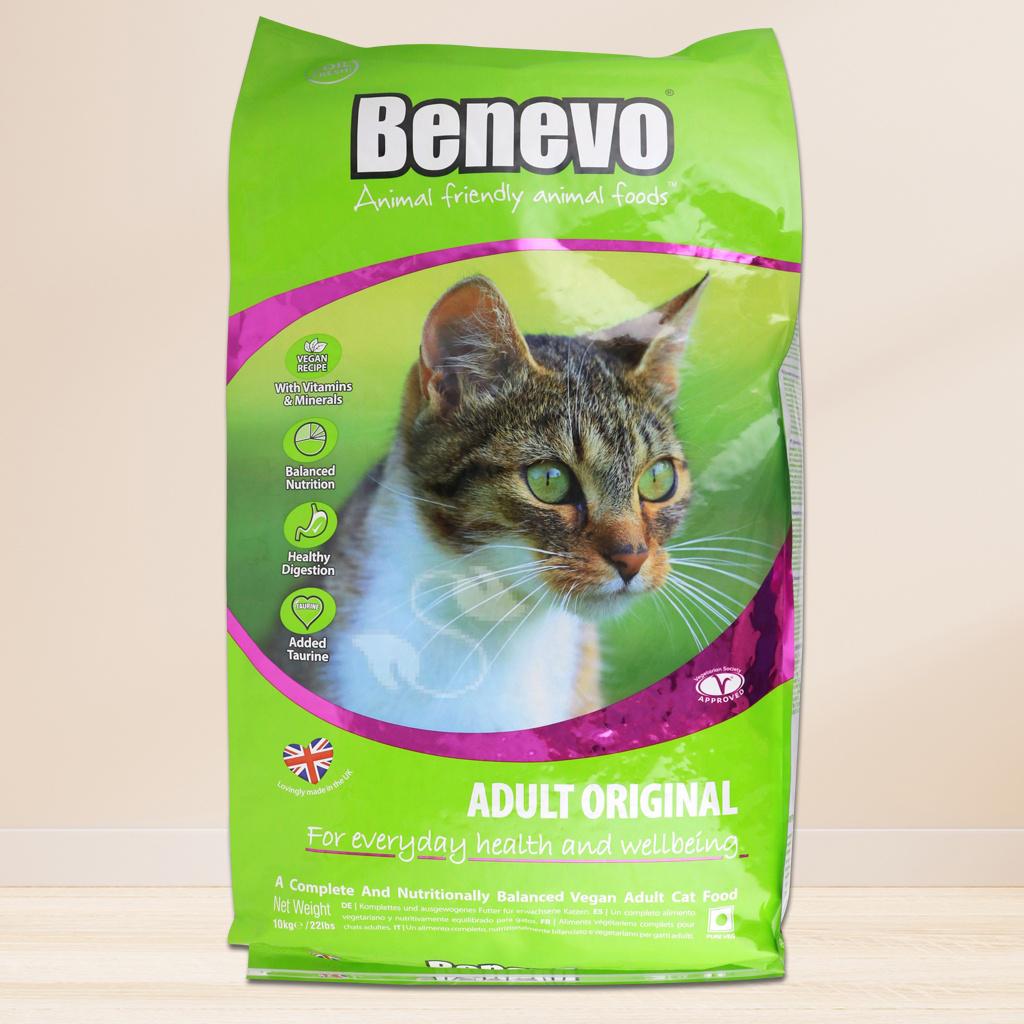 《Benevo 班尼佛》素食貓飼料(10KG/免運)~含植物牛磺酸